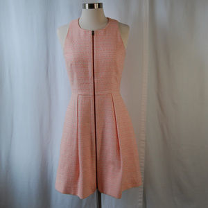 {McGinn} Tweed Fit and Flare Front Zip Dress Sz 6